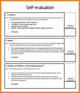 sample employee evaluation self appraisal examples self evaluation example