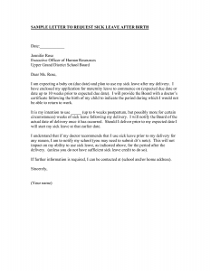 sample employment offer letter sick leave letter