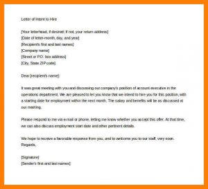 sample employment verification letter letter of intent to renew employment contract