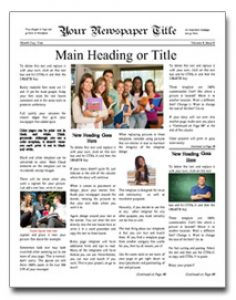 sample event program newspaper template image
