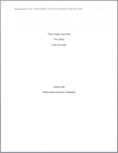sample eviction letter apa format title page mla format regarding apa cover page