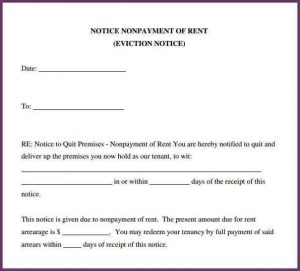 sample eviction notice eviction notice forms sample evitction notice form