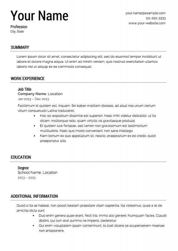 Sample Federal Resume  Template Business