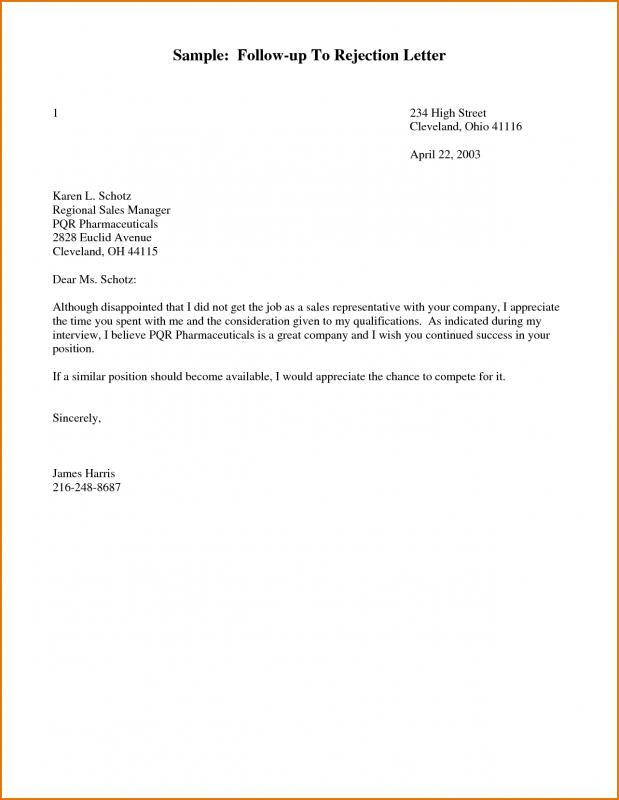 Sample Follow Up Letter For Job Application Status
