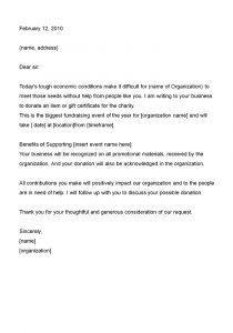 sample fundraising letter sample donation letter example