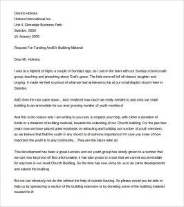 sample fundraising letter sample fundraising letter for church plant word format