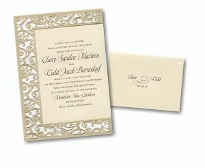 sample graduation invitations fancy detail ecru wedding invitation