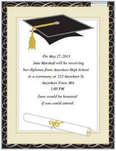 sample graduation invites invitation templates graduation free sttkv