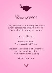 sample graduation invites kids graduation invitations