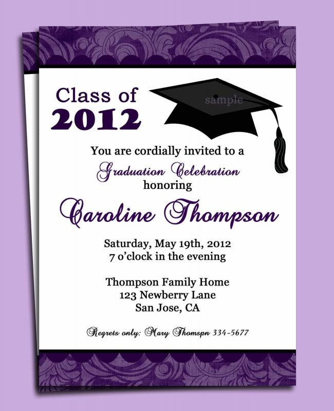 sample graduation invites