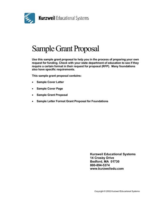 sample grant proposal non profit