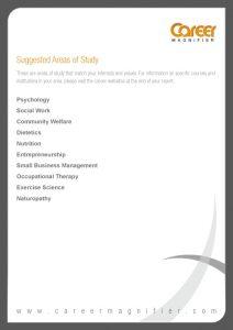 sample job descriptions career report p