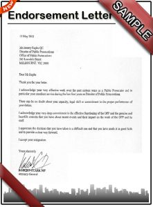 sample layoff letter endorsement letter