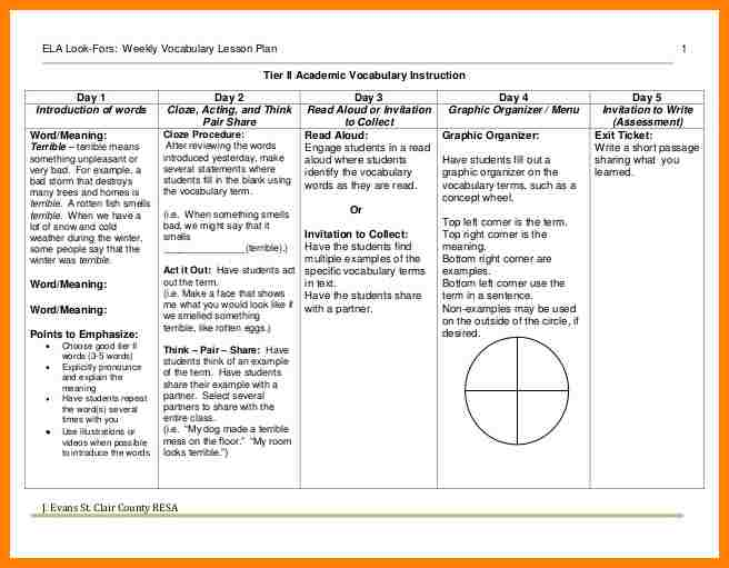 sample lesson plan for preschool