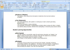 sample lesson plans sample plan