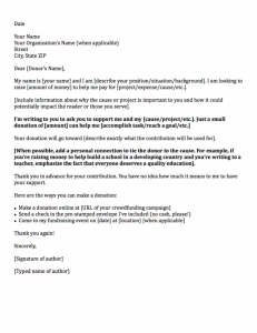 Sample Letter Asking For Donation | Template Business