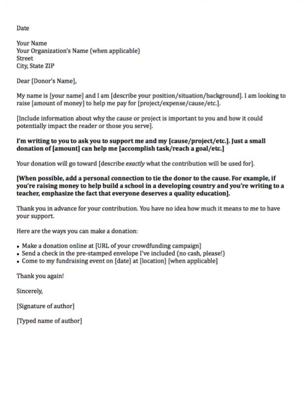 Sample Letter Asking For Donation  Template Business