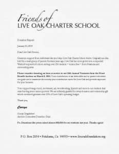 sample letter asking for donations for school auction donation request