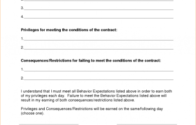 sample letter for termination of services behavior contract template
