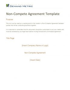 sample letter for termination of services non compete agreement template
