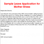 sample letter from doctor about medical condition leave application for mother illness