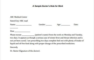 sample letter from doctor about medical condition sample doctors note for legal work template pdf download min