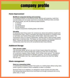 sample letter head company profile format template company profile template pdf