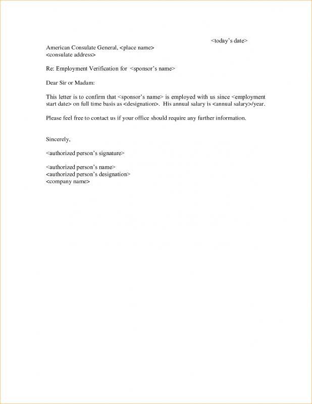 sample letter of employement