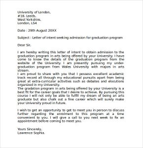 sample letter of intent for graduate school letter of intent template graduate school