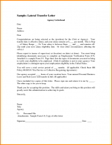 sample letter of intent to purchase job transfer letter job transfer letter sample