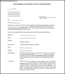 sample letter of intent to purchase non binding letter of intent to purchase free pdf sample templates non binding letter of intent non binding letter of intent