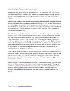 sample letter of recommendation for scholarships recomendation letter for scholarships in florida