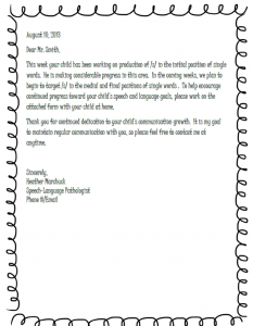 sample letter to teacher from parent about child progress sample parent letter