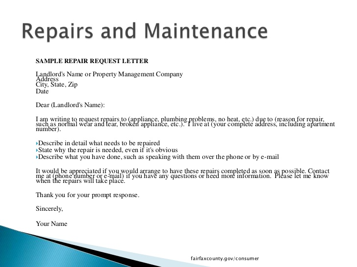 sample letter to tenant for damages