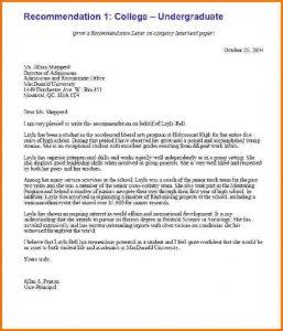sample letters of recommendation for scholarship formal letter format for college recletsamp