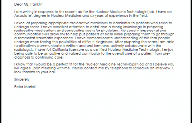 sample letters of recommendation for scholarship nuclear medicine technologist