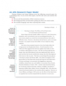 sample literature review for research paper sample apa research paper l