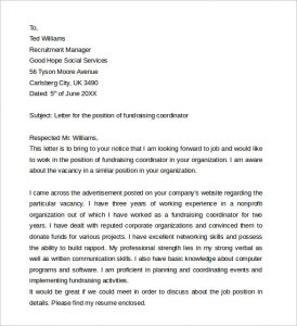 sample marketing proposal fundraising job cover letter