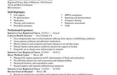 sample medical letter from doctor to employer intensive care nurse healthcare resume example standard x