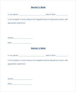 sample medical letter from doctor to employer printable doctors note