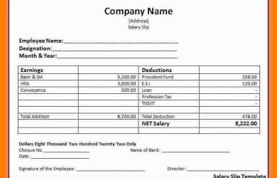sample memo format basic payslip template basic payslip template word salary slip format