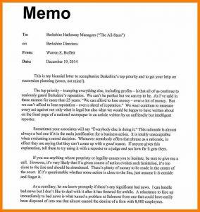 sample memo format memo example to boss business memo example