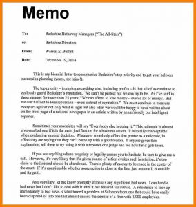 example of memo format