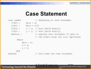 sample mission statement case statement in verilog crash course in verilog cb