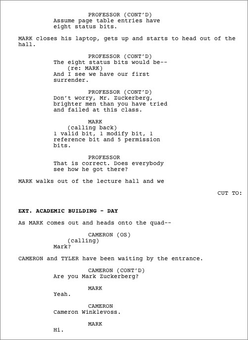 sample movie script