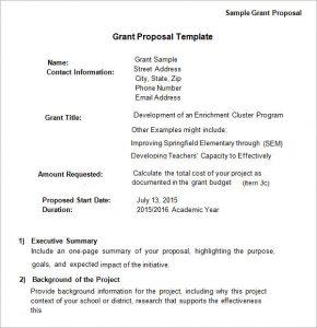 sample nonprofit budget sample grant proposal template