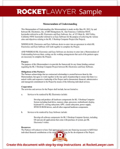 sample notary statements sample memorandum of understanding form template