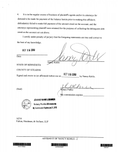 sample notary statements sample of midland affidavit in texas debt law suit page