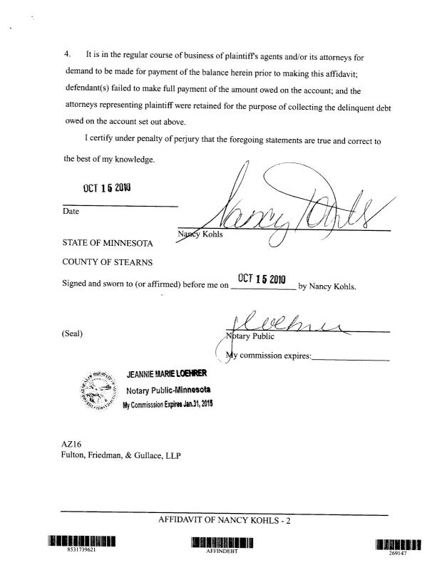 example of notarized letter sample notary statements template business 21575 | sample notary statements sample of midland affidavit in texas debt law suit page 2