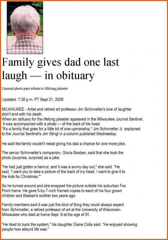 Sample obituary for mother template business for Template eulogy mother